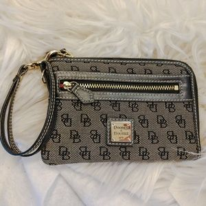 Authentic grey Dooney Bourke wristlet wallet